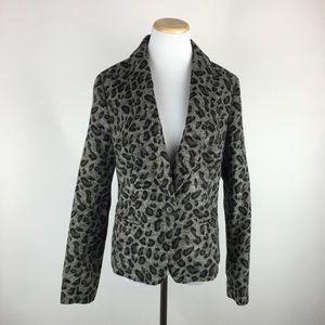 Ann Taylor LOFT animal print blazer Sz Medium